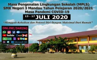 Masa Pengenalan Lingkungan Sekolah (MPLS) Online SMKN 3 Mandau