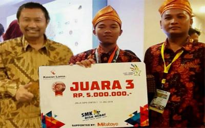SMKN 3 Mandau Juara 3 Nasional Metrologi