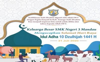SMKN 3 Mandau Mengucapkan Selamat Idul Adha 1441 H